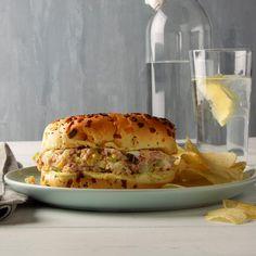 Grandma's Baked Ham Salad Sandwiches Sandwich Spread, Pork Sandwich, Salad Sandwich, Sandwich Recipes, Sandwich Ideas, Southern Potato Salad, Ham Salad, Chicken Salad, 7 Day Meal Plan