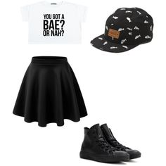 Bae by alannaxjonnesx on Polyvore featuring polyvore, fashion, style, Converse and Vans