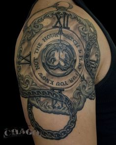 Pocket watch tattoo - 40 Awesome Watch Tattoo Designs <3 !