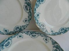 3 antique side plates. French porcelain by frenchvintagedream
