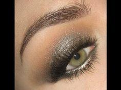 Metallic smoke gunmetal makeup - urban decay shadow for smokey eyes Grey Smokey Eye, Smokey Eye Makeup, Skin Makeup, Gray Eye Makeup, Bronze Makeup, Makeup Contouring, Black Eyeliner, Glitter Makeup, Pretty Makeup