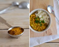 Red lentil sweet potato curry