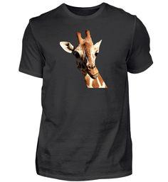 Giraffe Aufdruck (schwarz) T-Shirt Giraffe, Shirts, Mens Tops, Fashion, Black Men, Black Tee Outfit, Moda, Giraffes, Fashion Styles