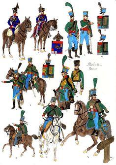 Corps auxiliaires du Royaume de Saxe, 1810-1813, planche 56
