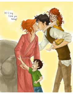 harry and ginny  ~  I just LOVE these fan art drawings!!! Some of them are so dead on :o)