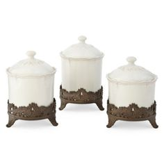 3 pc. White cannisters so lovely!