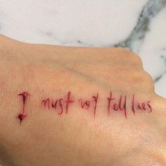 I must not tell lies. HP tattoo.