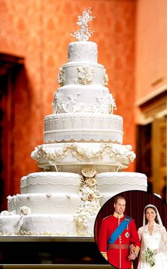William and Kate wedding cake Royal Cakes, Amazing Wedding Cakes, White Wedding Cakes, Royal Brides, Royal Weddings, Fiestas Party, Big Cakes, Cake Servings, Cake Table
