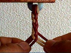 """[: Seis pares de tejido en espiga de cadena de cuero]: 024 """"simple vídeo de artesanía en cuero ♪"""""""