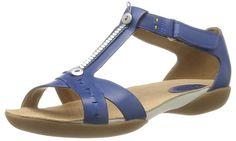 Clarks Raffi Magic 203589234 - Sandalias de cuero para mujer, color morado, #Zapatos #Clarks #Moda