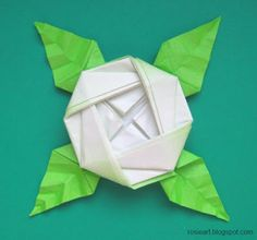 Origami Rose Brooch designed by Toshie Takahama