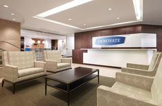 Clean & Neutral Reception area with Branding