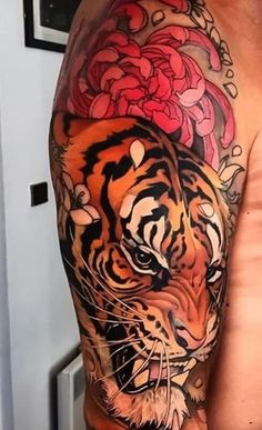 Best Japanese Tiger Tattoo Designs and Ideas Tatoo Tiger, Tiger Tattoo Sleeve, Tiger Tattoo Design, Full Sleeve Tattoos, Dragon Tiger Tattoo, Japanese Tiger Tattoo, Japanese Tattoo Designs, Japanese Sleeve Tattoos, Tattoo Japanese Style