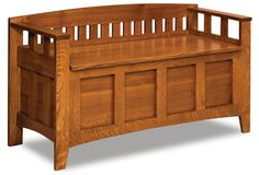 """Amish Westfield Mission Storage Bench, $730, Bench Dimensions: Height: 28 3/4"""" Width: 50"""" Depth: 19"""""""