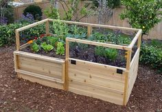OLT 6' x 3' Raised Garden Bed is a wonderful way to grow just the right amount of veggies and flowers in a small area. Western Red Cedar Panels standing 20 inches tall with an additional 13 inches of