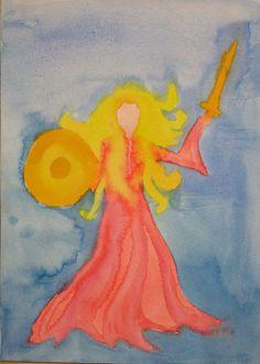 Waldorf ~ 4th grade ~ Norse Mythology ~ watercolor painting