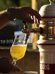 Selección de los vasos de cerveza