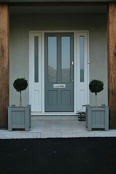 Garden Planter, Sarratt Range Adoored have one quite similar to this - We know it as a Victorian Ascot Classic Composite door. Shown in Grey.Adoored have one quite similar to this - We know it as a Victorian Ascot Classic Composite door. Shown in Grey. Grey Composite Front Door, Grey Front Doors, Beautiful Front Doors, Front Door Colors, The Doors, Exterior Front Doors, Composite Decking, Front Door Porch, Porch Doors