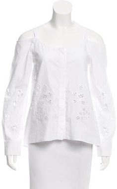 Suno Cold Shoulder Embroidered Top w/ Tags