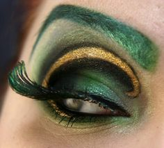 Loki-inspired eye makeup. As for the Capt. America and Thor designs, don't get me started. Jangsara, you're killing me here.