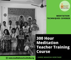 Our 300-hour Meditation teacher training course is a long term four weeks intensive program which has been #designed to give you the #knowledge, #skills, #experience and #confidence to teach Meditation to a range of clientele in group or individual.
