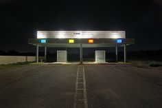 Nightwatch: The entrance to the defunct Mission Four Outdoor theatre in San Antonio, Te