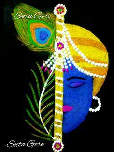 My rangoli my art.krishna My rangoli my art. Easy Rangoli Designs Diwali, Rangoli Simple, Indian Rangoli Designs, Rangoli Designs Latest, Simple Rangoli Designs Images, Rangoli Designs Flower, Rangoli Patterns, Free Hand Rangoli Design, Small Rangoli Design