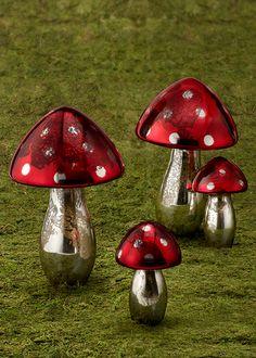 Mushroom Decor, Retail Stores, Glass Mushrooms, Garden Mushrooms, Fall  Decor,