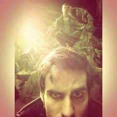 #OUAT #behindthescenes from Ginny's twitter, what's on Colin's mind?