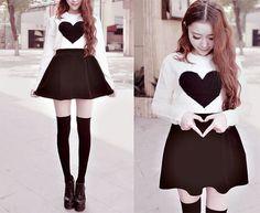 New fashion korean style kawaii outfit 58 ideas Cute Asian Fashion, Korean Street Fashion, Hipster Fashion, Kawaii Fashion, Japanese Fashion, Trendy Fashion, Diy Fashion, Fashion Trends, Korean Dress