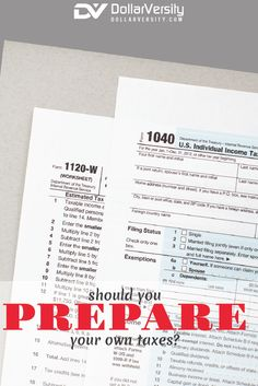 Everyone thinks that they do everything themselves, especially taxes.  It's smarter to pay someone to do it right the first time, and then forget about it. They will be completely up to date on all the latest rules, laws and opportunities to save on your taxes. Plus, you won't be stressing about getting a call from the IRS! via @EricNisall