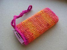 Virkattu kännykkäpussi pattern by Sara Palojärvi Crochet Fashion, Purses, Knitting, Pattern, Handmade, Crafts, School, Crocheting, Style
