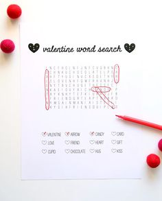 Printable Word Search for Valentine's Day | Handmade Charlotte