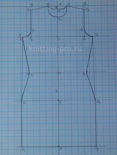 Построение упрощенной выкройки основы с вшивным рукавом для женщин