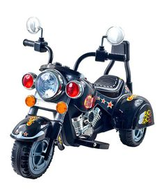 Love this Black Road Warrior Motorcycle Ride-On on #zulily! #zulilyfinds