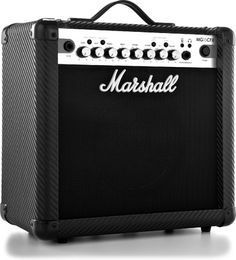 Marshall MG15CFX. This 15-Watt 4-Channel guitar amplifier was rated by GuitarSite.com as one of the best practice amps. For a guide to guitar practice amps see http://www.guitarsite.com/best-practice-amp/