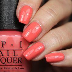 #SPFXXX from the #OPIRetroSummer Collection #nails #orange #orangenails #coral #nailpolish #OPI