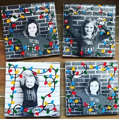 Flashback to my FAVORITE parent gifts ever.... These were super cute and SO EASY! I only needed the 20 cent tiles from Lowe's, a black and white picture, and a container of Mod Podge. I loved them so much that I made my own kids pose for a photo!!!! *Update - I linked everything you need in my Amazon Favorites... link in profile! BUT... if you have time, get the tiles from Lowe's. They're way cheaper....