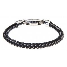 Man Steel And Leather Bracelet Marlu' - Bracciale Uomo Acciaio e Cuoio Marlù