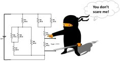 "Last time we went over basic circuit analysis techniques. This time we'll cover 3 more fundamental but extremely useful ""ninja"" circuit analysis tricks. Electronics Basics, Circuit, Ninja, Cover, Ninjas, Blankets"