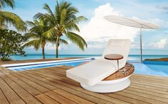 Sun lounger from Remmus, price 35.000€. There is many unseen features in the lounger. www.remmus.fi