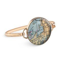 CUSTOM MAP BRACELET | map jewelry, personalized | UncommonGoods