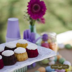 Use recycled jars to make your Easter table pop with color. Try filling them with plastic Easter eggs or jelly beans! | Nothing Bundt Cakes
