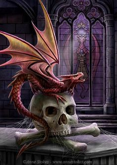 Author Anne Stokes Dragon skull follow me I will continue updating you expect. Dragon calavera autor Anne Stokes sigueme que esperas seguire actualizando