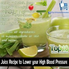 Juice recipe to lower your High Blood Pressure