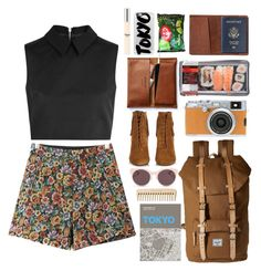 """""""Tokyo I'm Coming!"""" by nabilci on Polyvore featuring TOMS, McQ by Alexander McQueen, Chicnova Fashion, Yves Saint Laurent, Herschel Supply Co., Christian Dior, Casetify, Palomar, Chloé and tokyo"""
