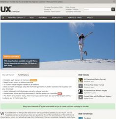 """UX is a HTML5 & CSS3 """"Super Premium"""" Commercial theme full of WordPress 3.3+ gems and features. The flexibility of the framework allows it to be tailored to a Blog, Portfolio, Creative, Business or almost any other kind of website one can imagine. You will not find a more comprehensive admin interface – easy enough for a beginner to grasp immediately."""