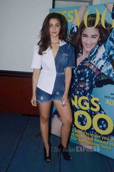 Alia Bhatt at the launch of the first edition of fashion magazine, Miss Vogue. #Bollywood #Fashion #Style #Beauty