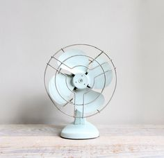 Vintage Industrial Electric Table Fan by ethanollie on Etsy, $30.00