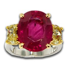 Ruby and Yellow Diamond Ring, James Breski. Find it at Hayman Jewelry Co.